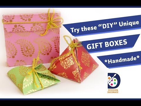 3 Unique Gift Boxes| Origami gift boxes| DIY-crafts