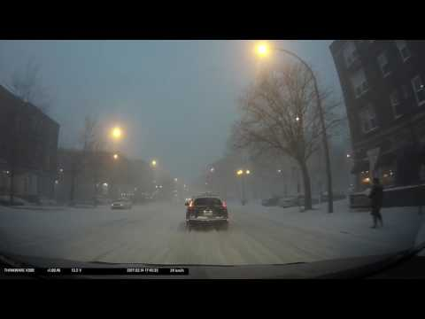Snow Storm in Montreal, March 14 2017