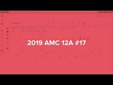 2019 AMC 12A #17