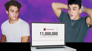 Dolan twins 11 million subscribers celebration