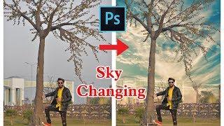 How to Change Sky in One Minute in Photoshop Tutorial Urdu \ Hindi