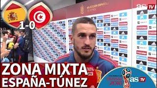 España 1-0 Túnez | Zona Mixta de la Selección desde Krasnodar | Diario AS
