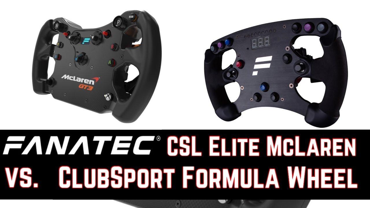 Fanatec McLaren GT3 vs  ClubSport Formula Wheel + Fanatec Quick Release im  Test
