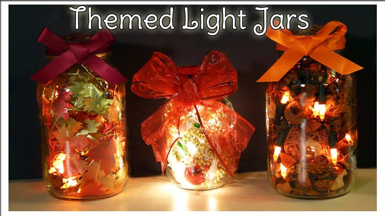 holiday light jars