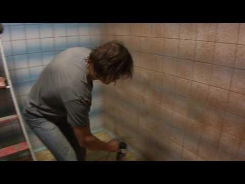 Покраска кафельных стен RAPTOR U-POL ч.1