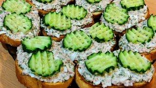 Закусочные бутерброды из рыбной консервы