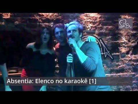 Absentia: Stana Katic & cast singing at a karaoke