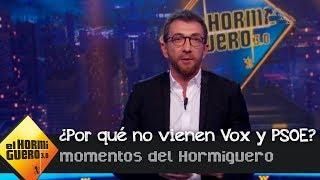 Pablo Motos dice por qué VOX y el PSOE no van al programa - El Hormiguero 3.0
