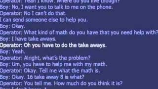 A 5 years old kid calling 911 for MATH help ... very funny