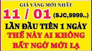 Giá vàng hôm nay 9999 (Mới) 11/1 | LẦN ĐẦU TRONG 1 NGÀY || Bảng Giá Vàng SJC 9999 24K 18K 14K 10K
