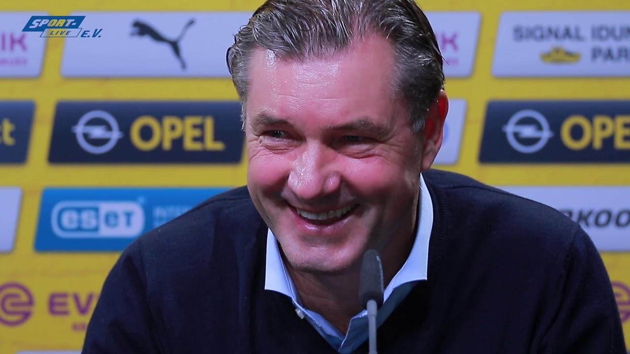 Die BVB-PK vor Hoffenheim mit Trainer Lucien Favre und Sportdirektor Michael Zorc