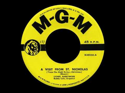 """Lionel Barrymore-  """"No Room in the Inn"""" and """"A Visit from St. Nicholas"""". 1950"""