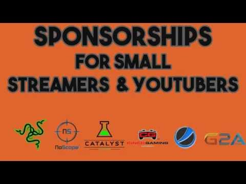 Sponsorships For Small Streamers/Youtubers