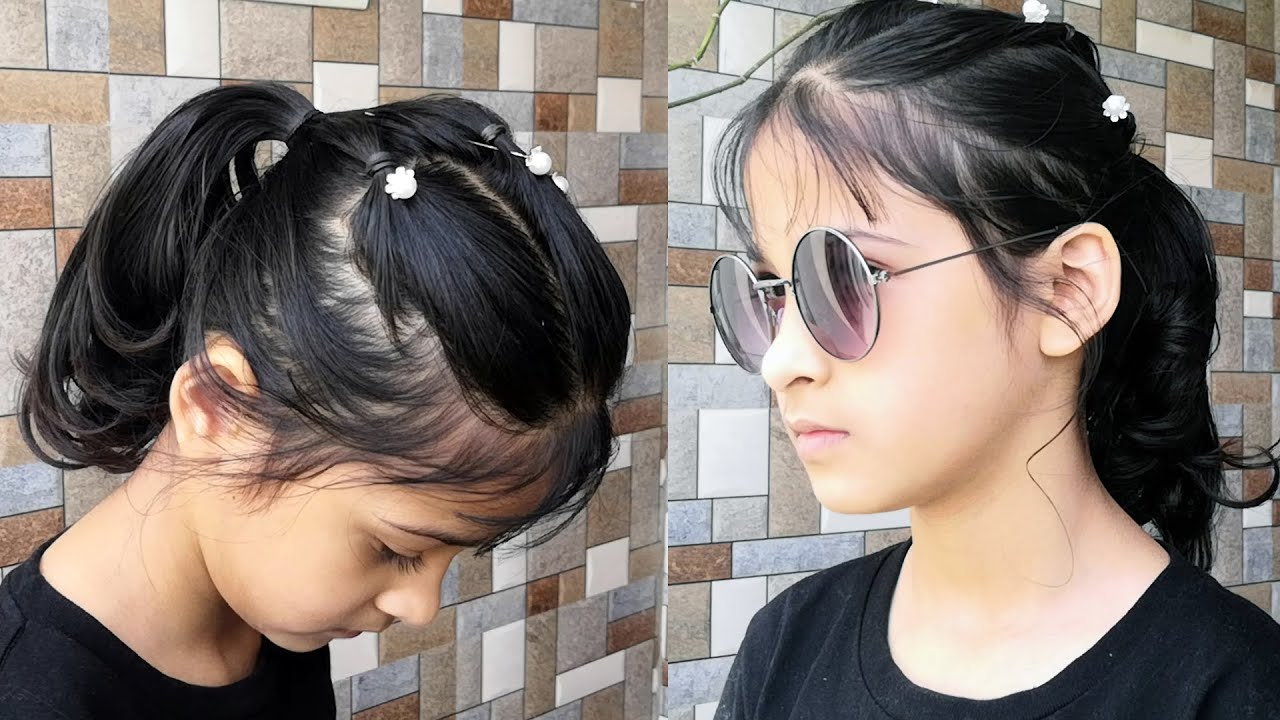 Hairstyles for short hair   Simple hairstyle for kids girl