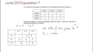 FMSP Revision Video: Edexcel D2 - Game Theory