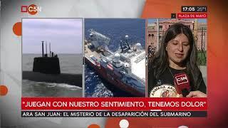Familiares de los tripulantes del ARA San Juan marcharon a Plaza de Mayo (Parte 2)