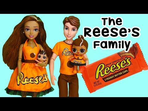 SWTAD LOL Families ! The Reese's Family in Candyland Pretend Play | Toys and Dolls Fun for Kids