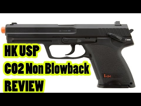 HK USP CO2 Gas Non-Blowback Airsoft Pistol from Airsoftmegastore.com Review