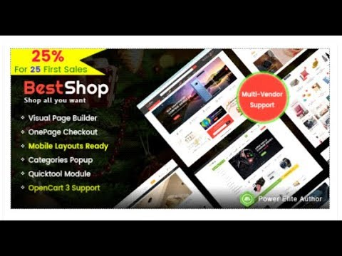 BestShop - Top MultiPurpose Marketplace OpenCart 3 Theme With ...