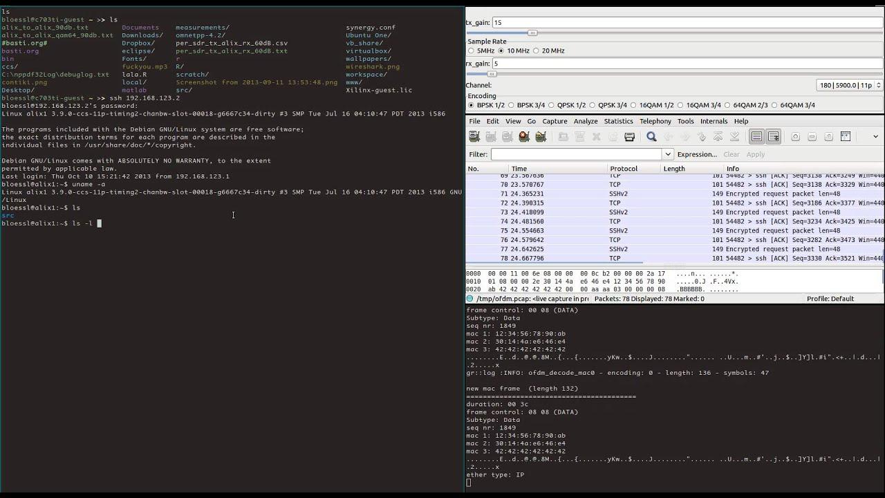 First WiFi Transceiver Test (GNU Radio + USRP N210)
