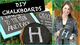 DIY Chalkboard Signs