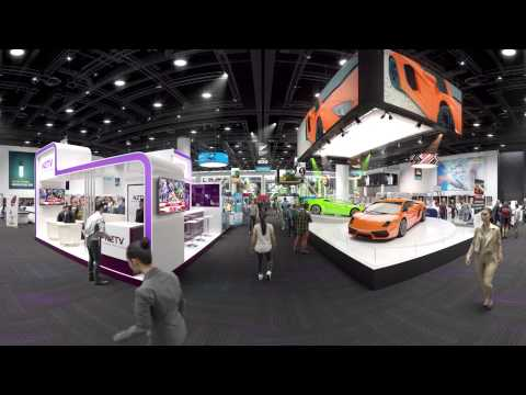 A 360 experience of the NZICC Exhibition Hall in the NZICC