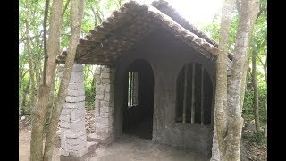 Primitive technology with survival skills Wilderness build house Roman part 10