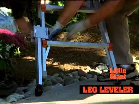 Features Of The Little Giant Ladder Leg Leveler Youtube