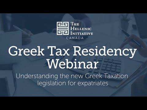 Greek Tax Residency Webinar