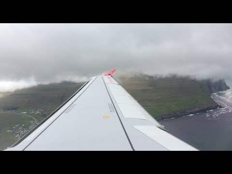 Landing Vagar, Faroe Islands from Copenhagen (4K) Atlantic Airways A320
