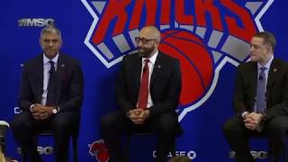 WATCH: New York Knicks introduce new coach David Fizdale