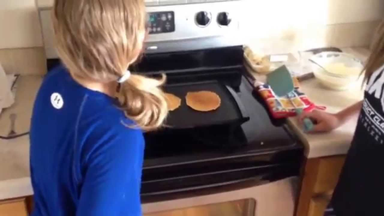 How to make hungry jack pancakes with becky and cora youtube ccuart Gallery