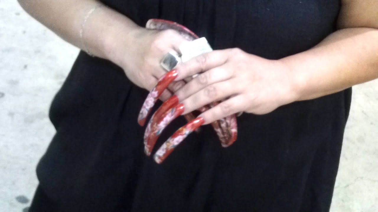 Extra Extra long acrylic Nails - YouTube - photo#18