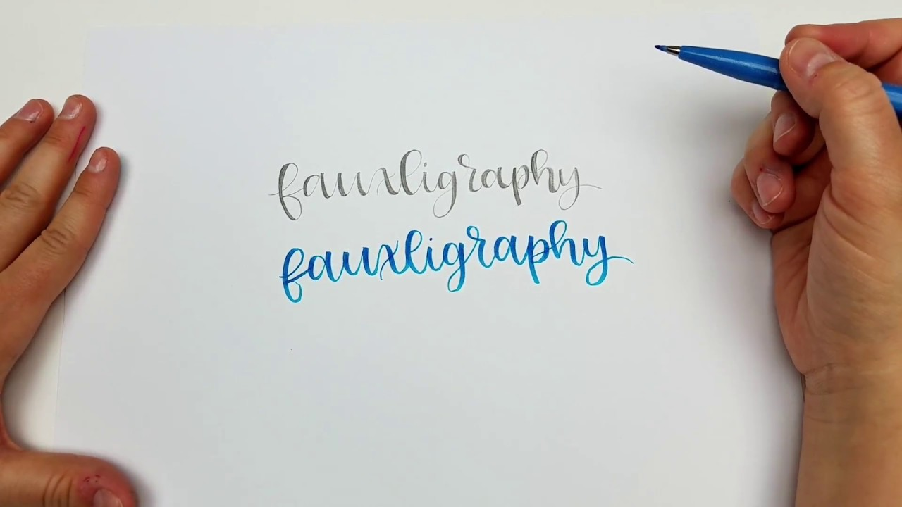 Fake Calligraphy M Calligraphy With A Pencil How To Create Hand Lettering With Just A Pencil