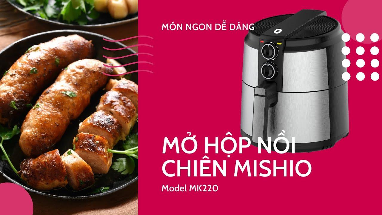 Review Nồi Chiên Không Dầu Mishio MK220 - YouTube
