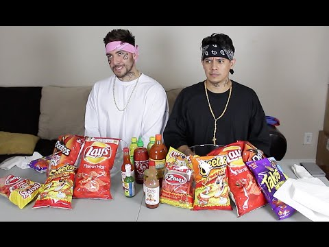 CHOLOS DO HOT CHEETO and TAKIS CHALLENGE