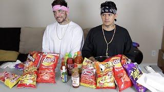 CHOLOS DO HOT CHEETO and TAKIS CHALLENGE