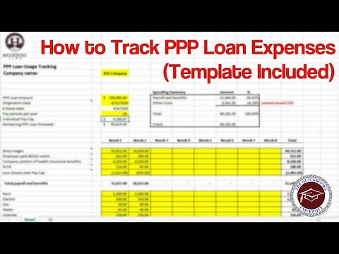 How To Track Ppp Loan Expenses Template Included Youtube