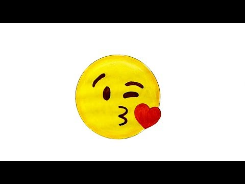 How To Draw The Kissing Face Emoji 😘