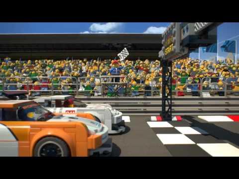Lego Speed Champions Porsche 911 GT Γραμμή Τερματισμού της Porsche 911 GT