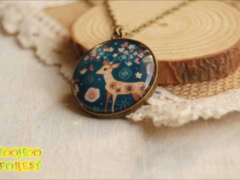 HooHooForest handmade forest Mori girl fashion copper necklace demo 001 001
