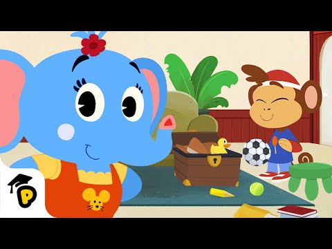 Find Bip's toys and help sort them in the toy chest! | Dr. Panda TotoTime | Kids Learning Video
