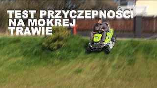 Grillo Climber 8.22 - test przyczepności kosiarki na mokrej trawie i wzniesieniu