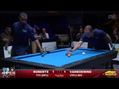 2016 US Open 8-Ball: Josh Roberts vs Shane Van Boening