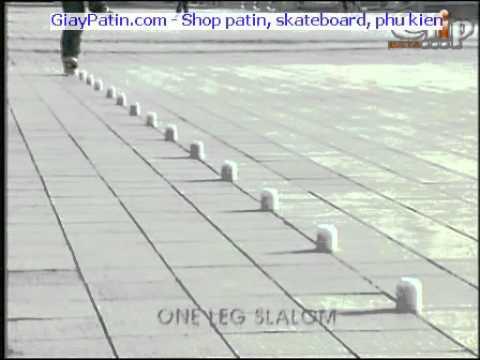 Ky thuat truot patin Slalom bằng 1 chân