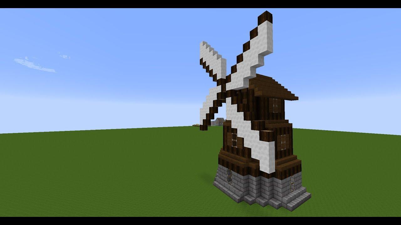 Tutorial Mittelalterliche Mühle Bauen YouTube - Minecraft mittelalter haus klein