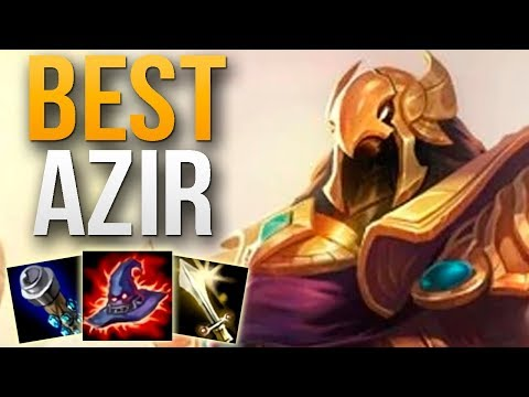 BEST AZIR IN THE WORLD SHOWS YOU HOW TO CARRY | CHALLENGER AZIR MID GAMEPLAY | Patch 9.4 S9