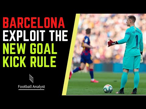 How Barcelona play with the new goal kick rule