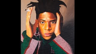 Painting of Jean-Michel Basquiat by Moe Notsu