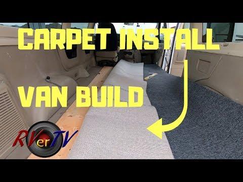DIY Custom CARPET INSTALLATION ... VAN Build...